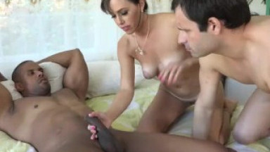 Alana Cruise and Husband Share Big Black Cock