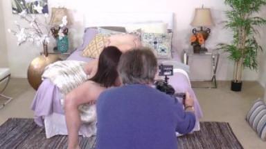 Bubble Butt Teen Kat Monroe Fucks Stepdad & Gets Cum Facial BTS
