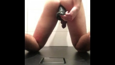 Black dildo boy ass fuck