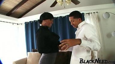 Black Step m. With Big Melons Enjoys The BBC