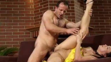 Small tits babe fingered and fucked sensually