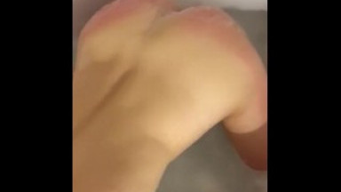 Girl with perfect body suck big dick from the bath tub