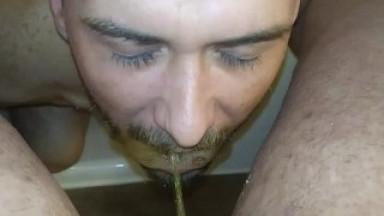 Pissing Sister Gives Him a Gargling Golden Shower by stepDaddy Jackrabbit