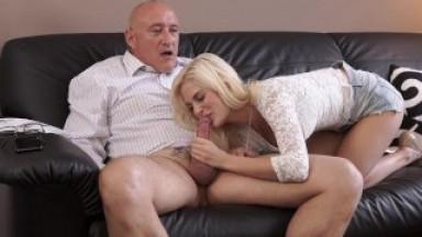 DADDY4K. Bad dad pleasuring his dick with a gf of his son