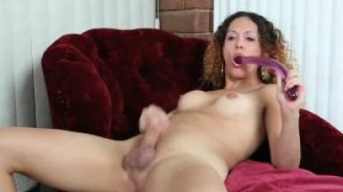 Nicole Montero with a Double Dildo