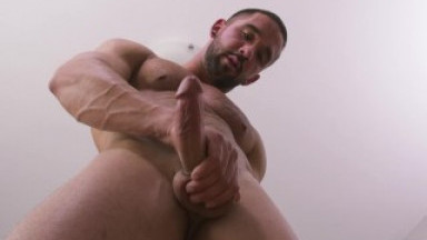 Peeping HOT Straight Big Dick Stud Masturbating