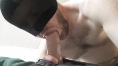 Straight guy sucks cock and jerks off - dildo sucking makes me so horny #2