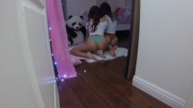 Peeping On My StepSis Sami Parker and Her Slutty Friend Emily Willis
