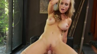 Kayden Kross POV sex with a big hard cock after a hot strip tease