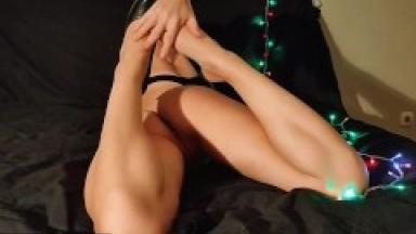 My Sexy Stepmom Masturbates Her Wet Pussy On The Bed